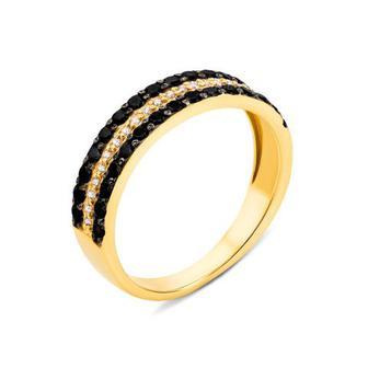 Золотое кольцо с фианитами (12977/03/1/126)