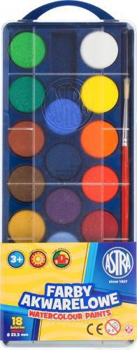 Акварельні фарби 18 кольорів Astra