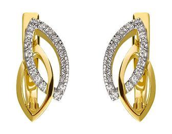 Золоті сережки з фіанітом (5с-170/34)