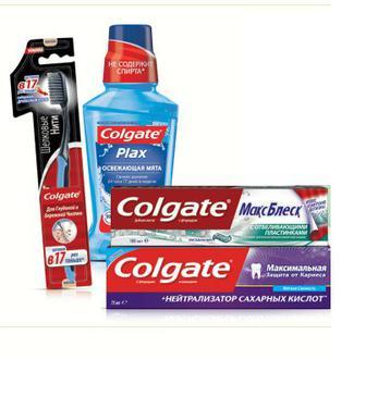 Зубні пасти, зубні  щітки, ополіскувачі ротової порожнини  Colgate