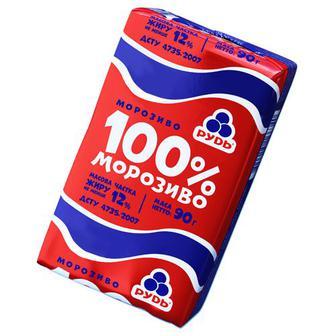 Морозиво Рудь 100% Морозиво 90г