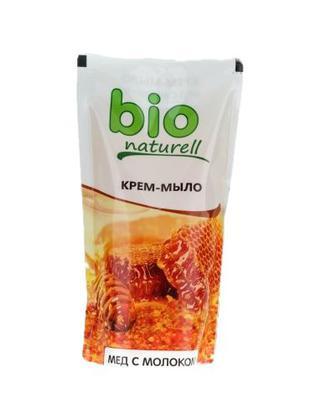 Крем-мило Bio Naturell Мед з молоком 500мл д/пак