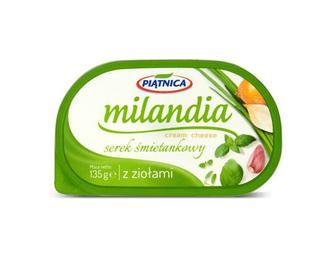 Сир Piatnica Milandia вершковий з травами 62% жиру, 135 г