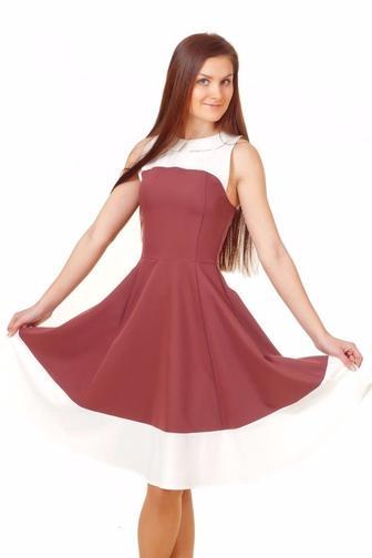 Платье коктельное коричневое