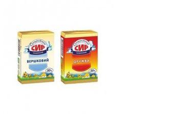 Сыр плавленый Білоцерківка 50% Дружба/Сливочный, 90г