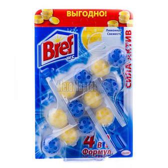 Засіб Bref чистячий для унітаза Лимонна свіжість 3по50г
