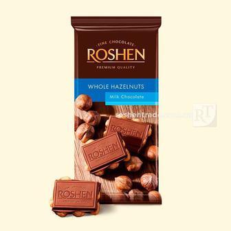 Скидка 25% ▷ Шоколад екстрачорний, молочний Рошен 90 г