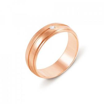 Обручальное кольцо с фианитом. Артикул 10108