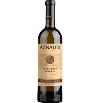Вино Украина Ркацители сухое белое Aznauri 9,5-14% 0,75л