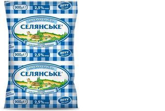 """Молоко ультрапастеризоване, 2,5%,  """"Селянське"""", 900 г"""