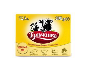 Суміш рослинно-вершкова «Тульчинка» 72,5% жиру, 200 г