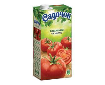 Сік «Садочок» томатний з сіллю, 0,95л