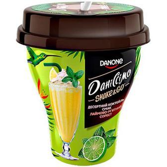 Коктейль Danone Даніссімо Лаймово-м`ятний сорбет 5,2% 260г