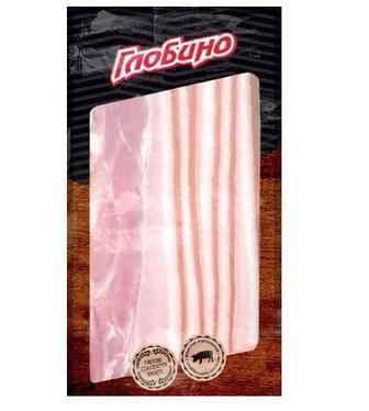 Грудинка банкетна Продукт із свинини копчено-варений Глобино,120 г