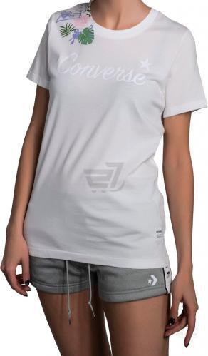 Футболка Converse Essentials Rib Print Tee 10005799-102 XS білий