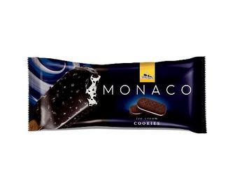 Морозиво «Три ведмеді» Мonaco, печиво-шоколад у глазурі на паличці, 80г