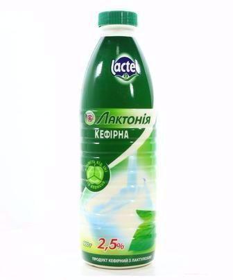 Кефир Лактонія 2.5% Lactel 900г