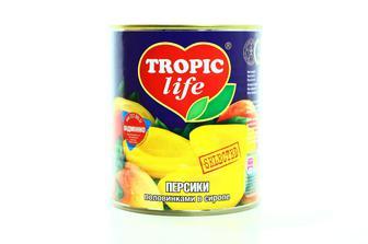 Персики половинками в сиропі Tropic life, 850 мл