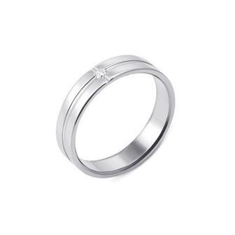 Обручальное кольцо с бриллиантом. Артикул 10005/2.25б