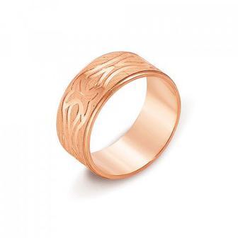 Обручальное кольцо с алмазной гранью. Артикул 10101/16