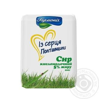 Сир кисломолочний Гармонія 5% 200г