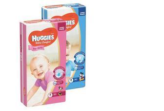 "Підгузники ""Huggies Ultra Comfort"" хлопчики/дівчатка 3(5-9кг)56шт, 4(8-14кг) 50шт,5(12-22кг) 42шт"