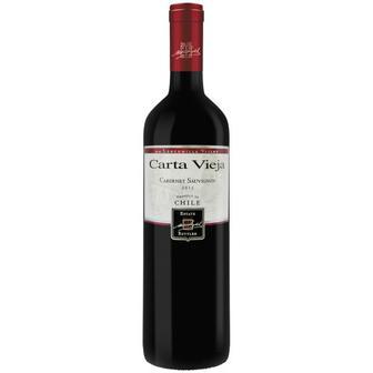 Вино Carta Vieja Cabernet Sauvignon червоне сухе 0,75л