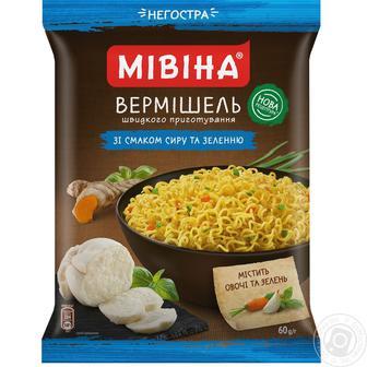 Вермішель Мівіна зі смаком сиру та зелені 60г