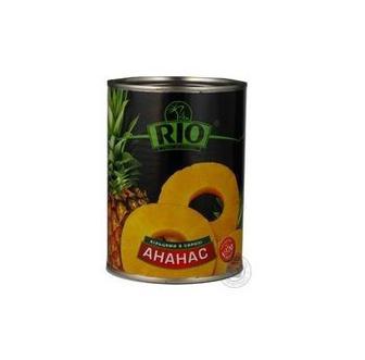 Ананаси кільцями в сиропі Rio 580мл