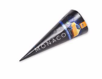 Морозиво «Monaco» Чорничний чізкейк, ріжок, 110 г   Три Ведмеді