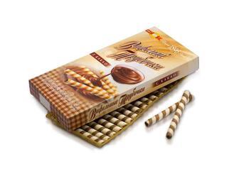 Вафельные трубочки с молоком, с какао ХБФ 200г