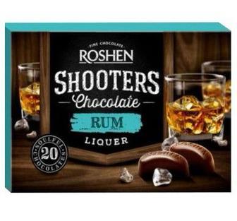Цукерки ром-лікер, бренді-лікер Roshen Shooters 150г
