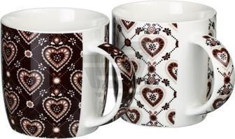 Набір чашок Серця 360 мл 2 шт.