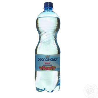 Вода мінеральна та вода мінеральна зі смаками ОБОЛОНСЬКА 1 л