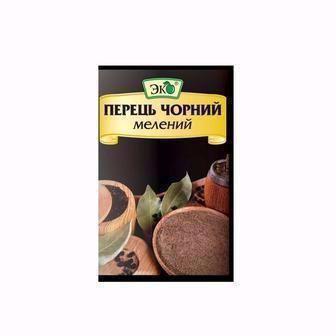 Перець Чорний мелений/Горошок Эко 20г