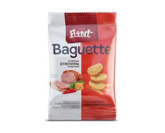 Сухарики Flint Baguette, зі смаком буженини пікантної, 60 г