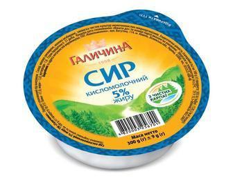 СИР кисломолочний нежирний, 300 г ГАЛИЧИНА