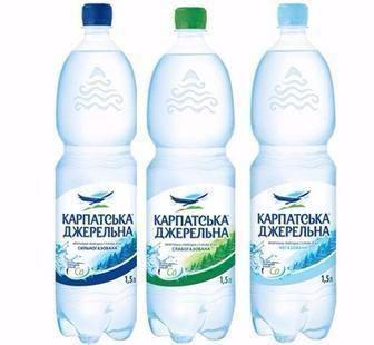 Вода мінеральна Карпатська Джерельна Карпатські мін. води 2л