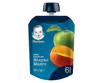 Пюре Gerber яблуко-манго, 90г