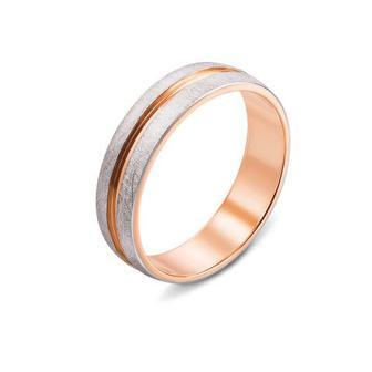 Обручальное кольцо с алмазной гранью. Артикул 10161
