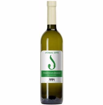 Вино Kvareli Алазанская Долина белое полусладкое 0,75