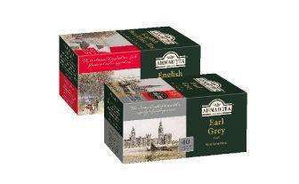 Чай чорний Інгліш Брекфест, Эрл Грей з бергамотом Ахмад 40 шт*2 г, 1 уп