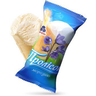 Морозиво Рудь Пролісок шоколадне або молочне 60г