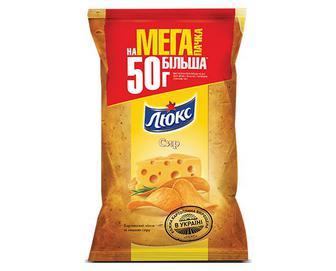 Чипси «Люкс» зі смаком сиру, 183г
