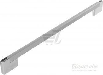 Меблева ручка 76L 416 мм матовий хром Poliplast