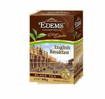 Скидка 31% ▷ Чай чорний Англійський класичний Edems 100г