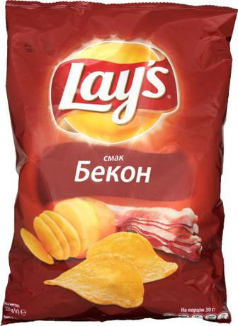 Чіпси Lays зі смаком бекону 71г
