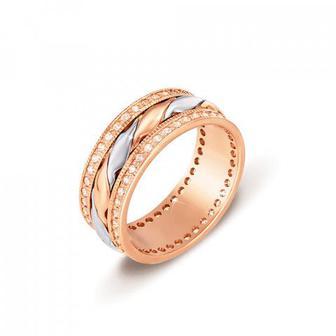 Обручальное кольцо с фианитами Артикул 1079