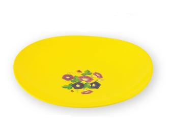 Блюдо круглое пластиковое