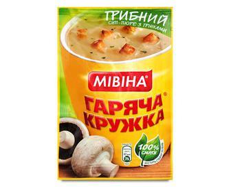 Суп «Гаряча кружка» гороховий з беконом та грінками, 19г